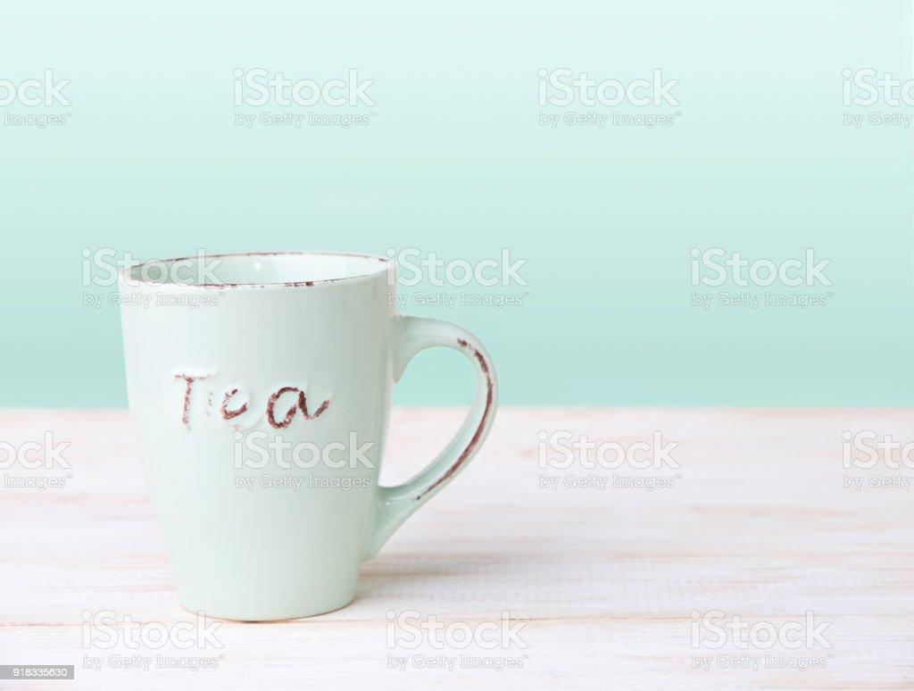 Mug  on the table stock photo