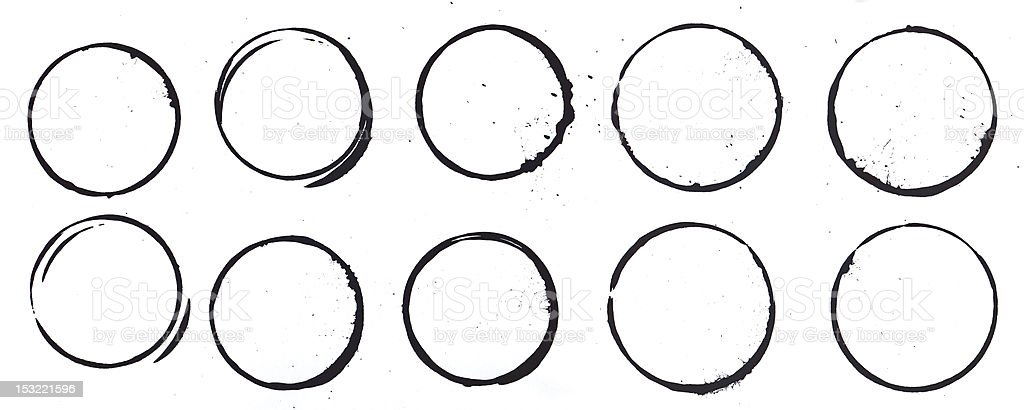 Mug Stains in Black royalty-free stock photo