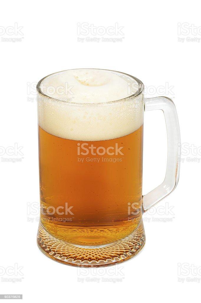 mug with a fresh beer royalty-free stock photo