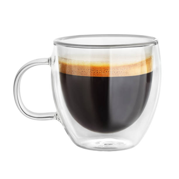 mug with espresso coffee isolated - tazza foto e immagini stock