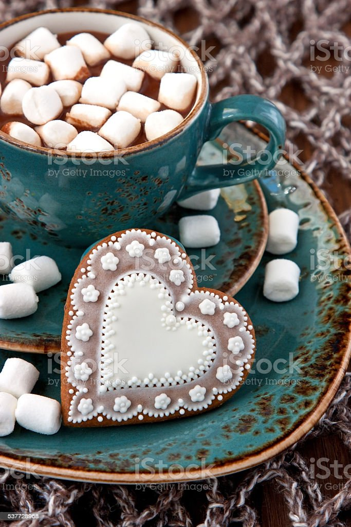 Mug With Hot Chocolate And Tasty Cookies Stock Photo Download Image Now Istock