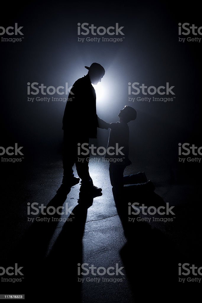 Mugged in the Shadows royalty-free stock photo