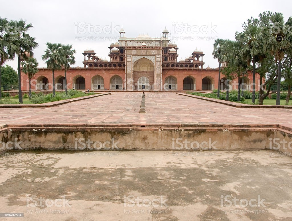 Mughal emperor Akbar's tomb stock photo