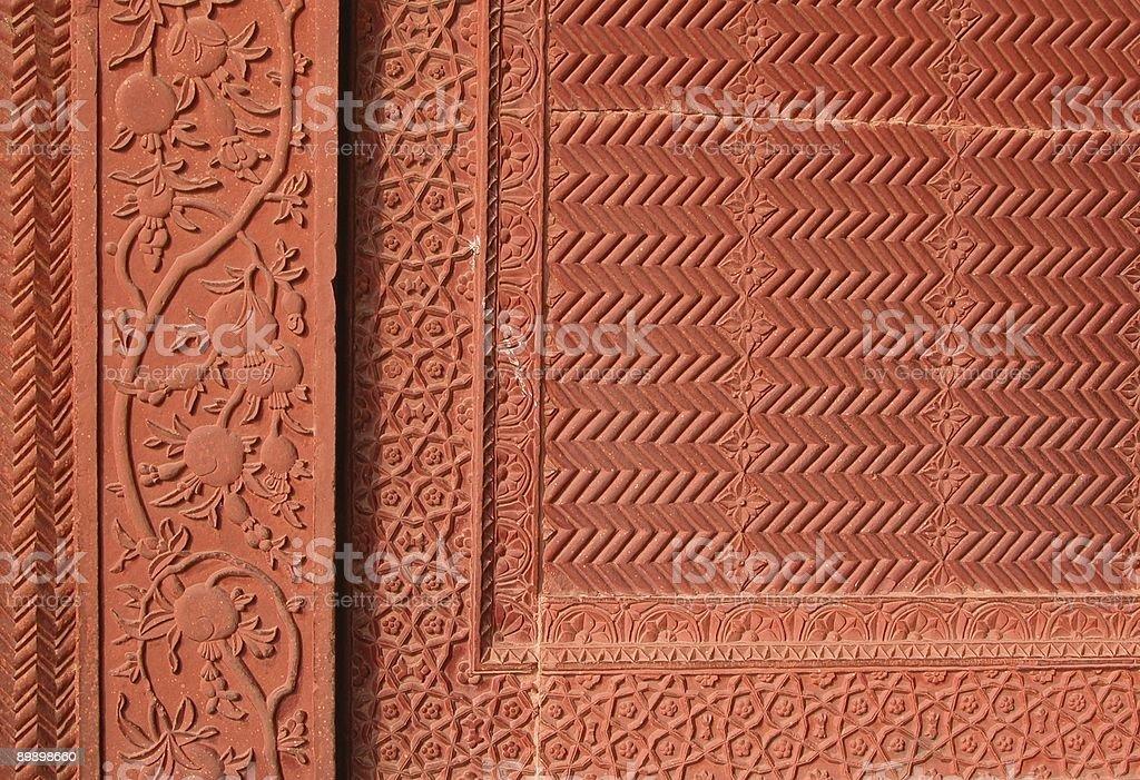 Mughal pomegranate motif royalty-free stock photo