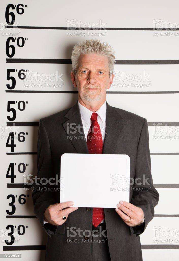 Mugshot of a Businessman stock photo