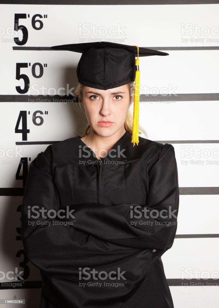 Mugshot of a Graduate royalty-free stock photo