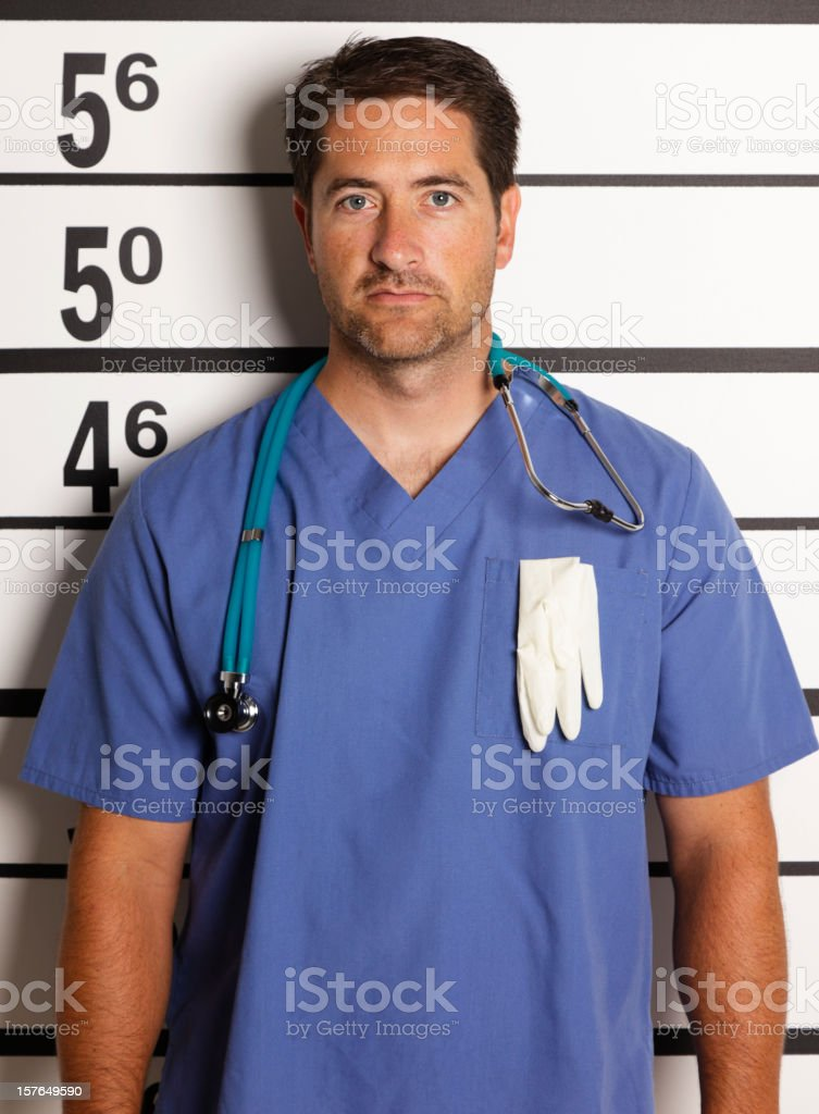 Mugshot of a Healthcare Worker royalty-free stock photo