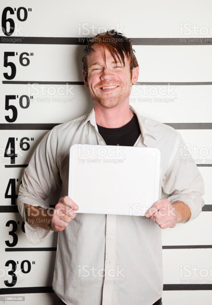 Mugshot of a Man royalty-free stock photo