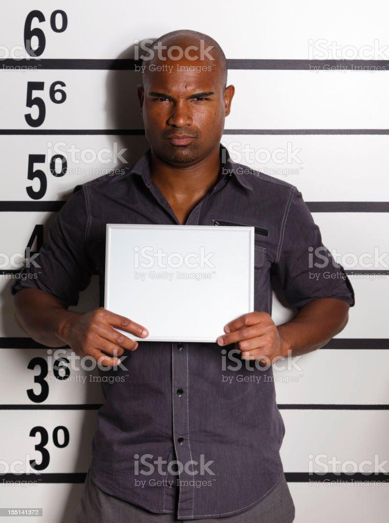 Mugshot of a Young Man royalty-free stock photo