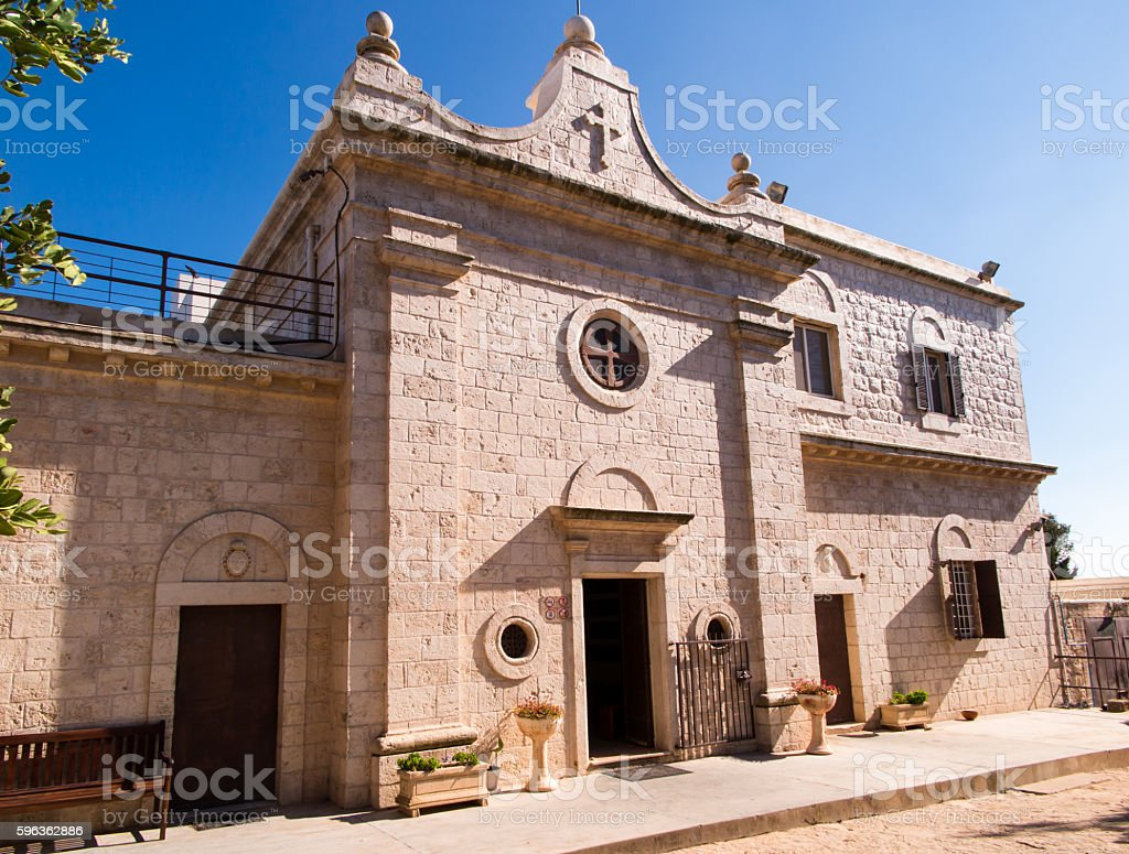 Muhraqa monastery on Mount Carmel in Israel royalty-free stock photo