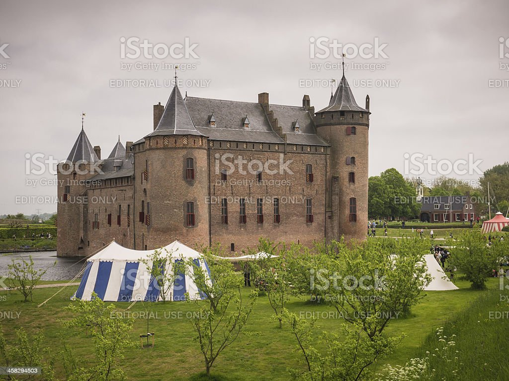 Muiderslot Castle in the Netherlands stock photo