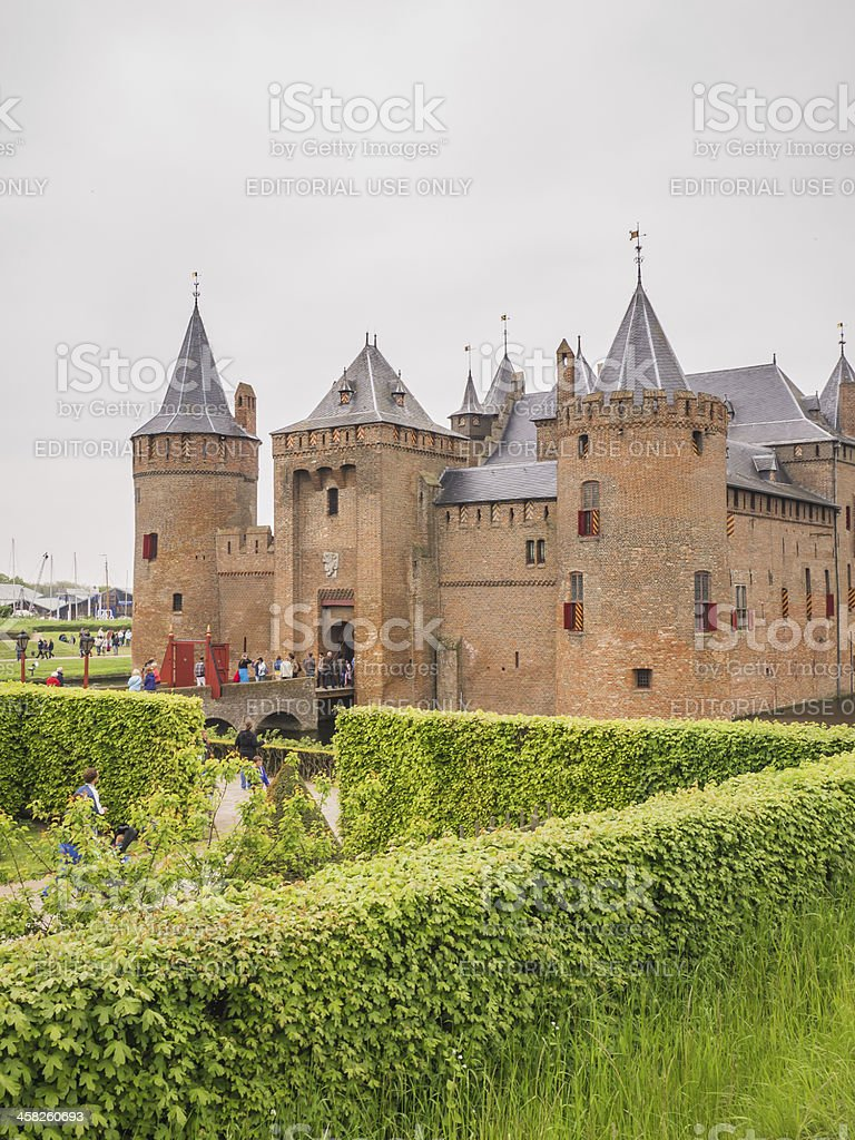 Muiderslot in the Netherlands on National Castle Day stock photo