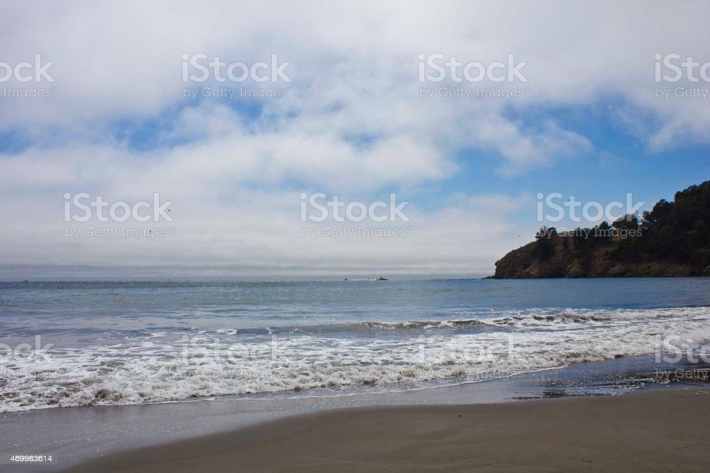 Muir Beach coastline, Pacific Ocean stock photo