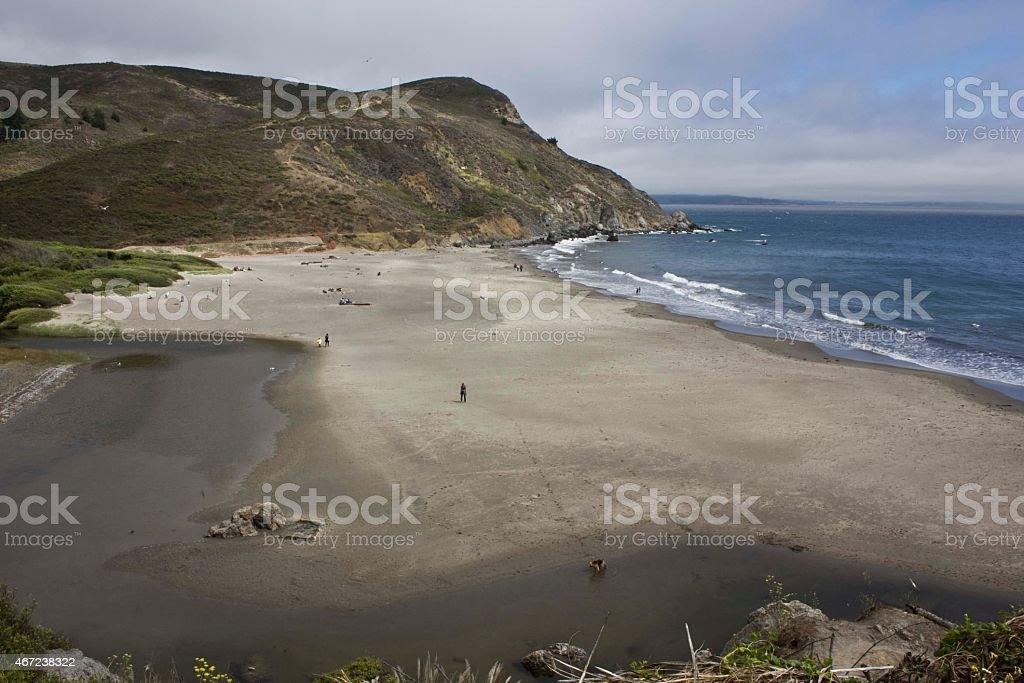 Muir Beach landscape stock photo