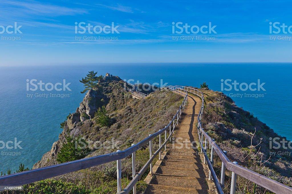 Muir Beach Ocean Overlook stock photo