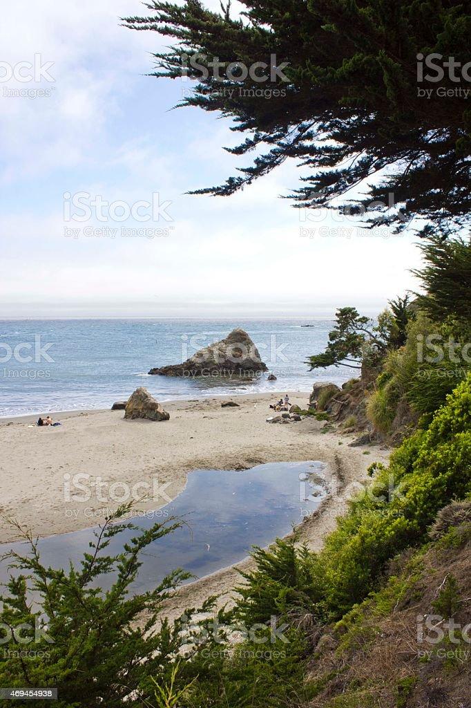 Muir Beach, San Francisco stock photo