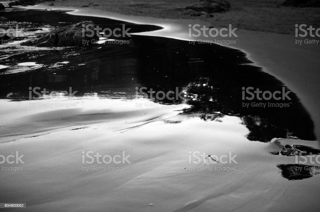 Muir Beach Sky Puddle stock photo