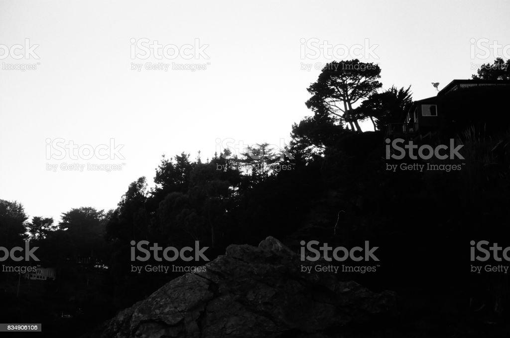 Muir Beach Skyline stock photo