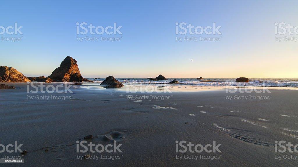 Muir Beach Sunset stock photo