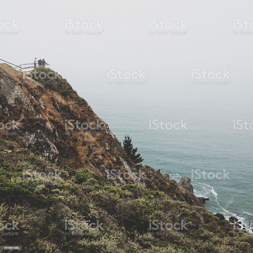 Muir Beach Viewers stock photo
