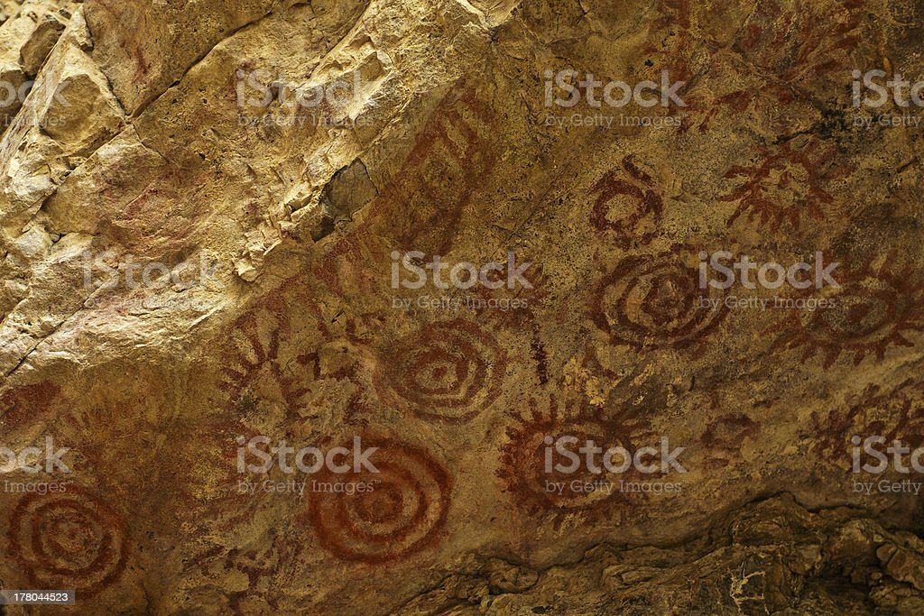 Muisca Cave Paintings stock photo