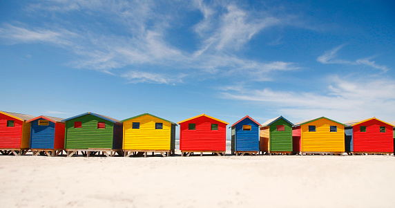 Muizenberg Beach Huts Colorful Painted Wood Houses South ...