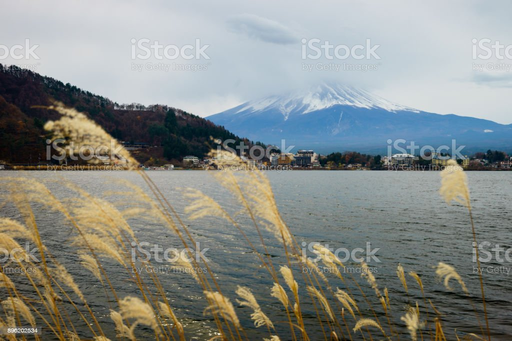 Muji Mountain In Winter stock photo
