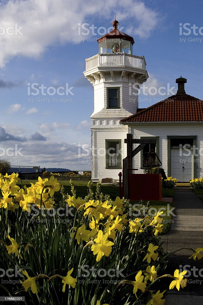 Mukilteo lighthouse royalty-free stock photo