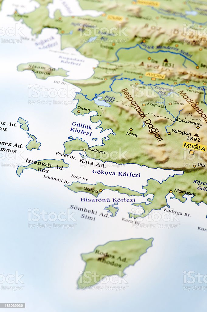 Mula Map Stock Photo More Pictures of Aegean Sea iStock