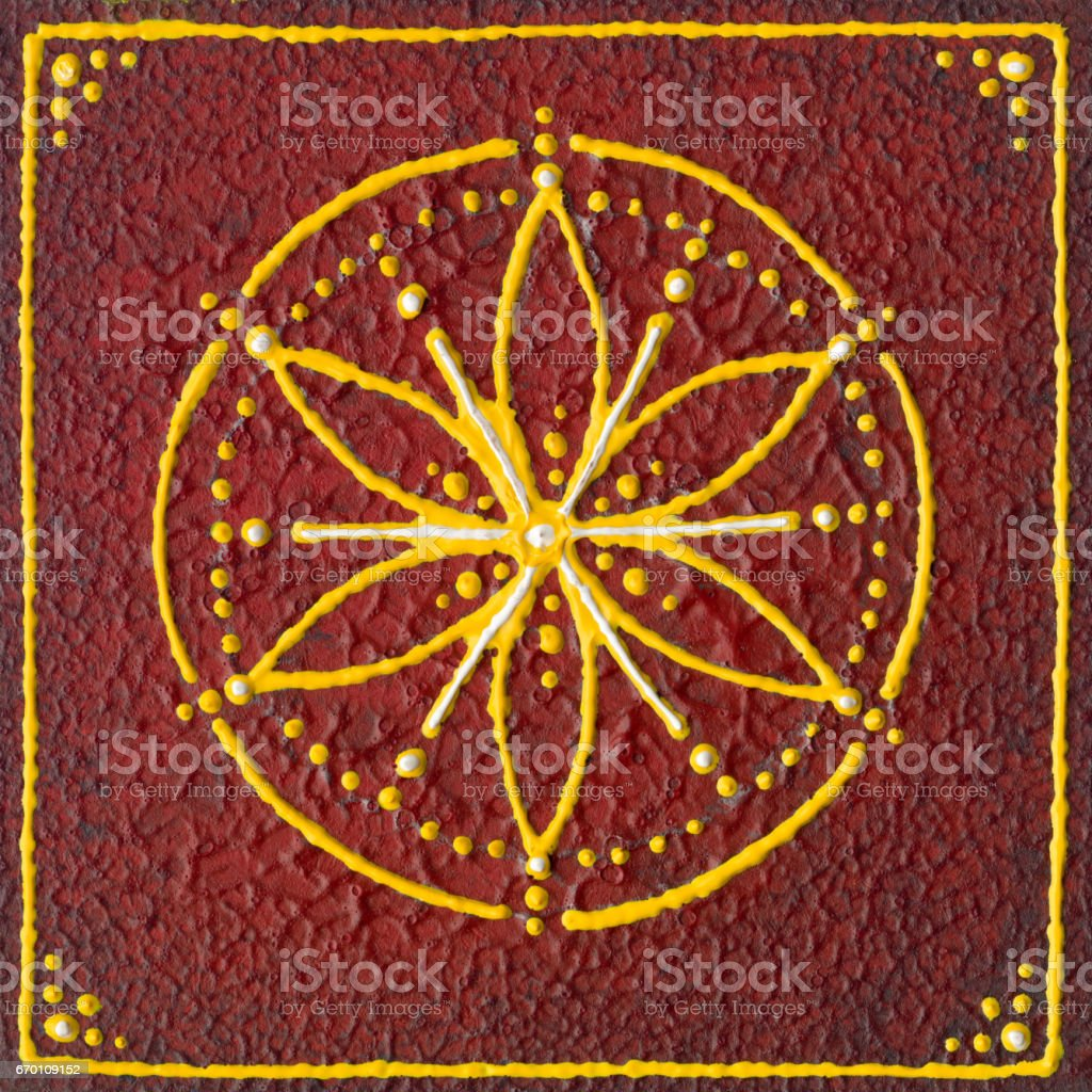 Muladhara root chakra stock photo