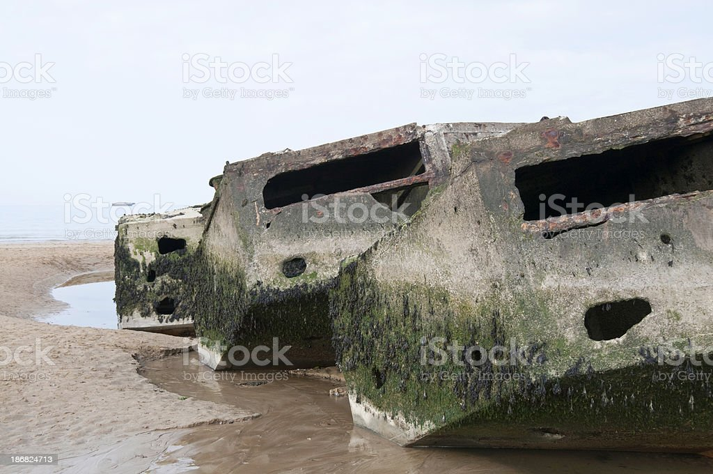 Mulberry Harbour royalty-free stock photo