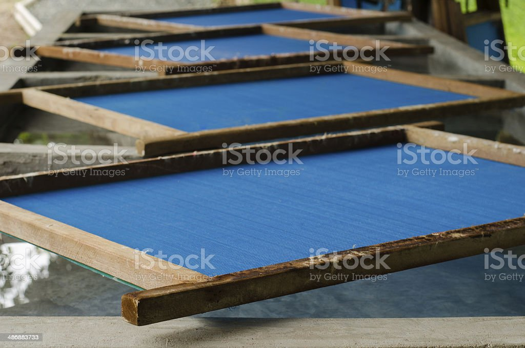 Mulberry paper deckle stock photo