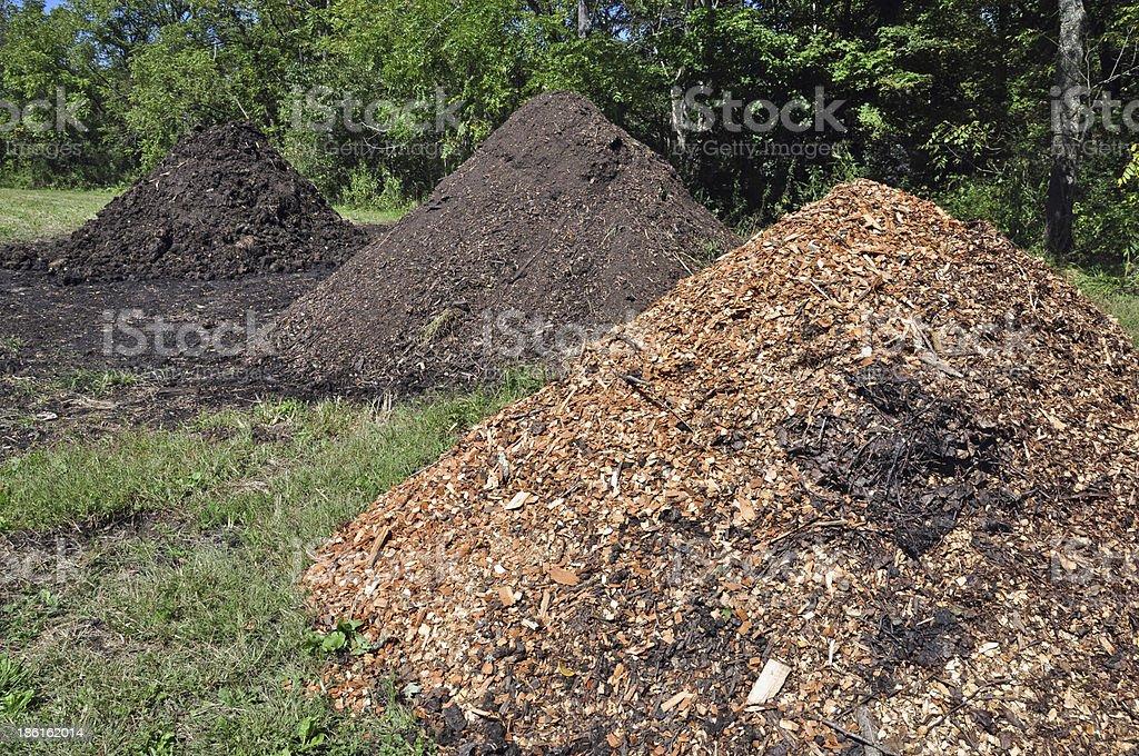 Mulch and Manure stock photo