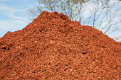 'Large pile of red mulch, shallow depth of field.Please also see:'