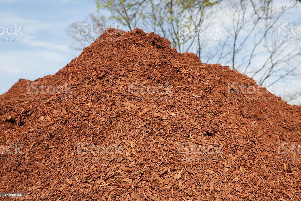Mulch Mountain stock photo