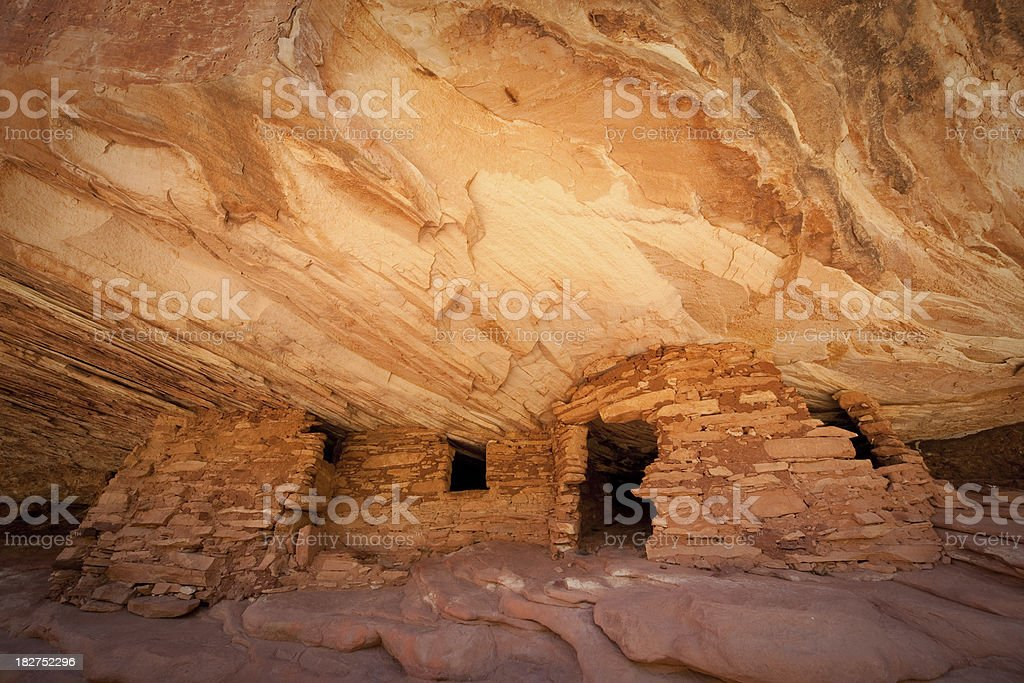 Mule Canyon Ruin Structures stock photo