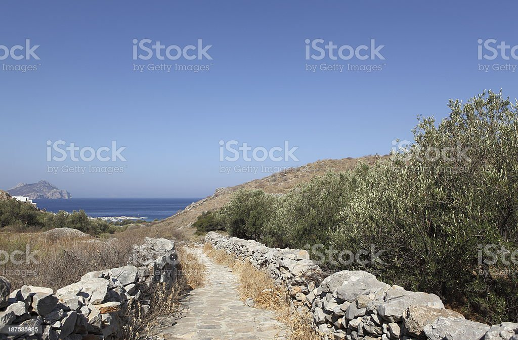 Mule trail in Greece royalty-free stock photo