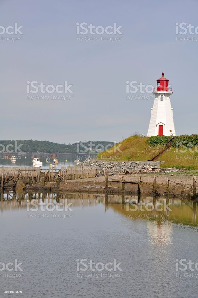 Mulholland Point Lighthouse, Campobello Island (Canada) stock photo
