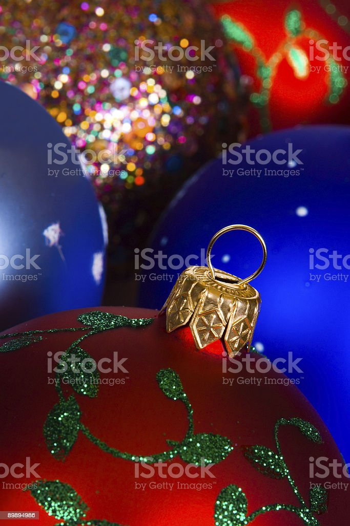 Mulicolored Christmas balls royalty-free stock photo