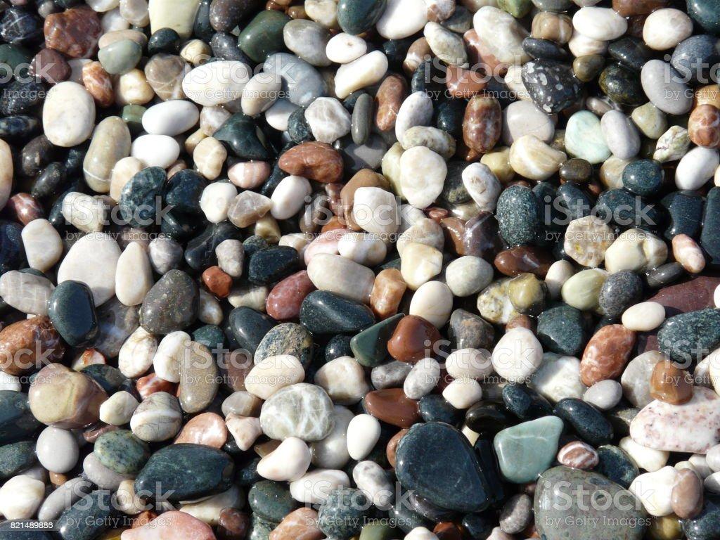 Mulitcoloured stones stock photo