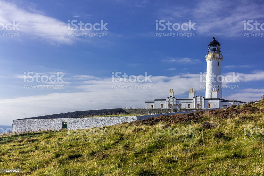 Mull of Galloway Lighthouse and Garden stock photo