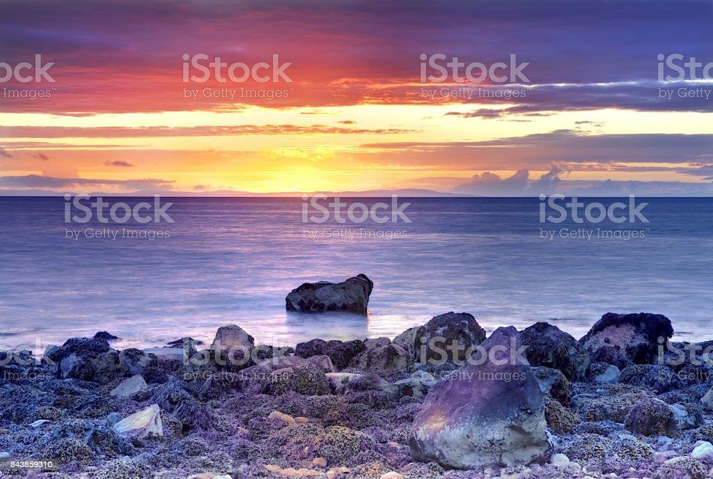 Mull of Galloway Seascape stock photo