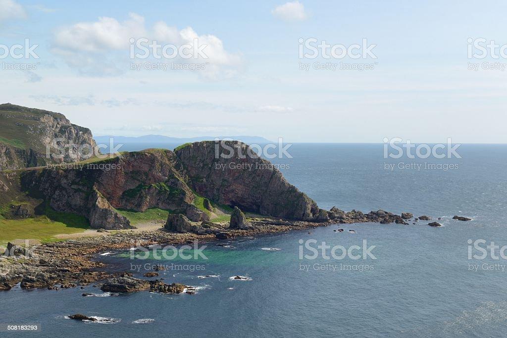 Mull of Oa cliffs stock photo