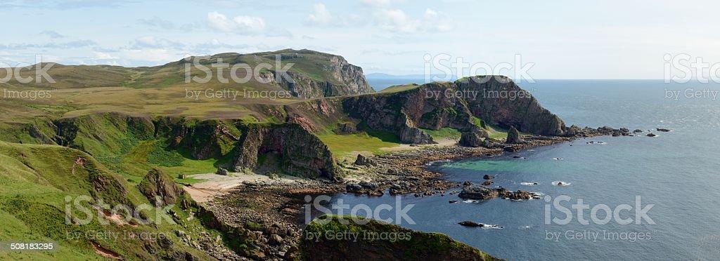 Mull of Oa panorama stock photo