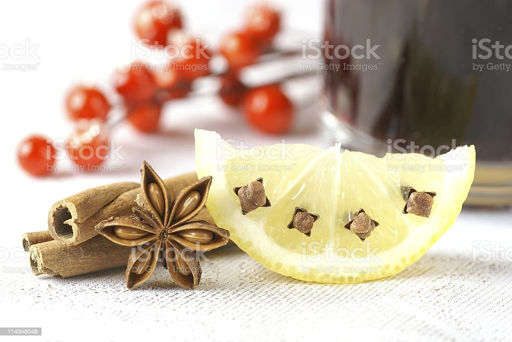 Mulled wine detail royalty-free stock photo