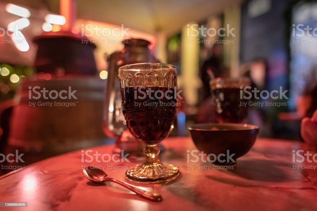 Mulled Wine Glugg in Copenhagen, Denmark stock photo