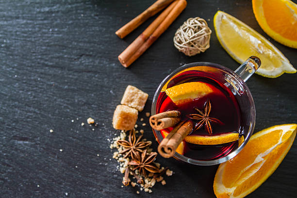 mulled wine ingredients - mulled wine stock photos and pictures