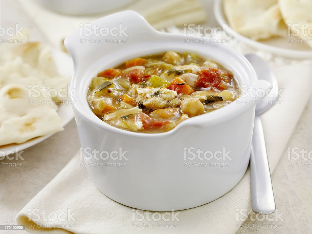 Mulligatawny Soup stock photo