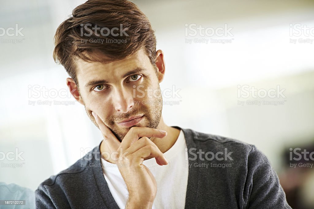 Mulling over business ideas royalty-free stock photo