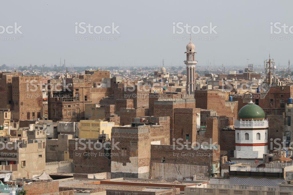 Multan cityscape stock photo